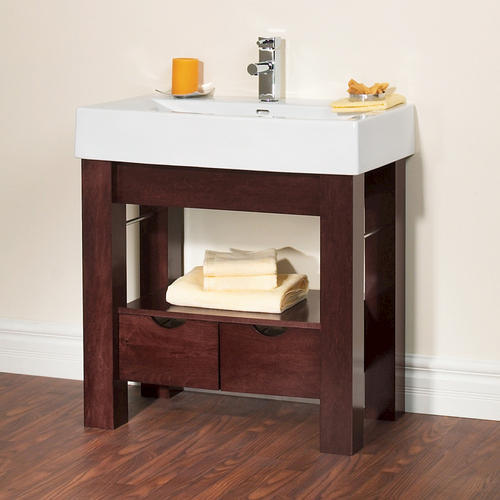 """Magick Woods 32""""W x 19""""D Sonata Collection Porcelain Vanity Top with Integrated Bowl at Menards®"""
