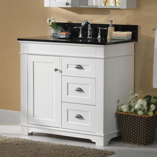 Magick Woods Charlotte 36 W X 21 D White Bathroom Vanity Cabinet At Menards