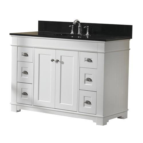 Magick woods charlotte 48 w x 21 d white bathroom vanity - Menards bathroom vanities 48 inches ...