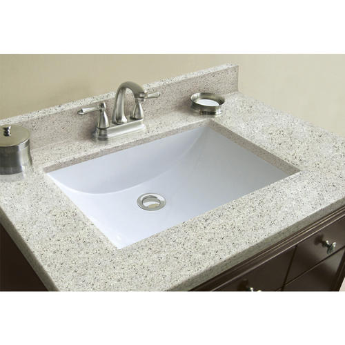 Magick Woods Elements 31 W X 22 D Cultured Marble Vanity Top With Rectangular Wave Integrated Bowl At Menards