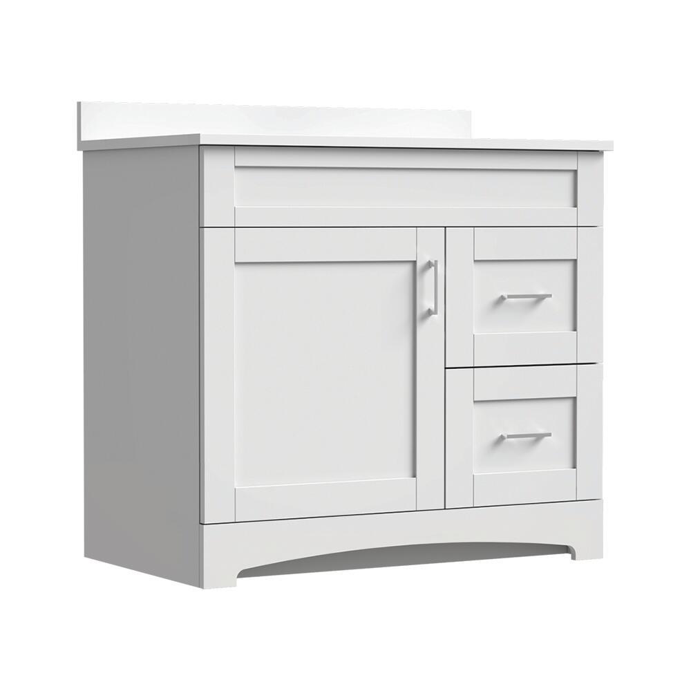 Magick Woods Elements Brighton 36 W X 21 D Bathroom Vanity Cabinet At Menards