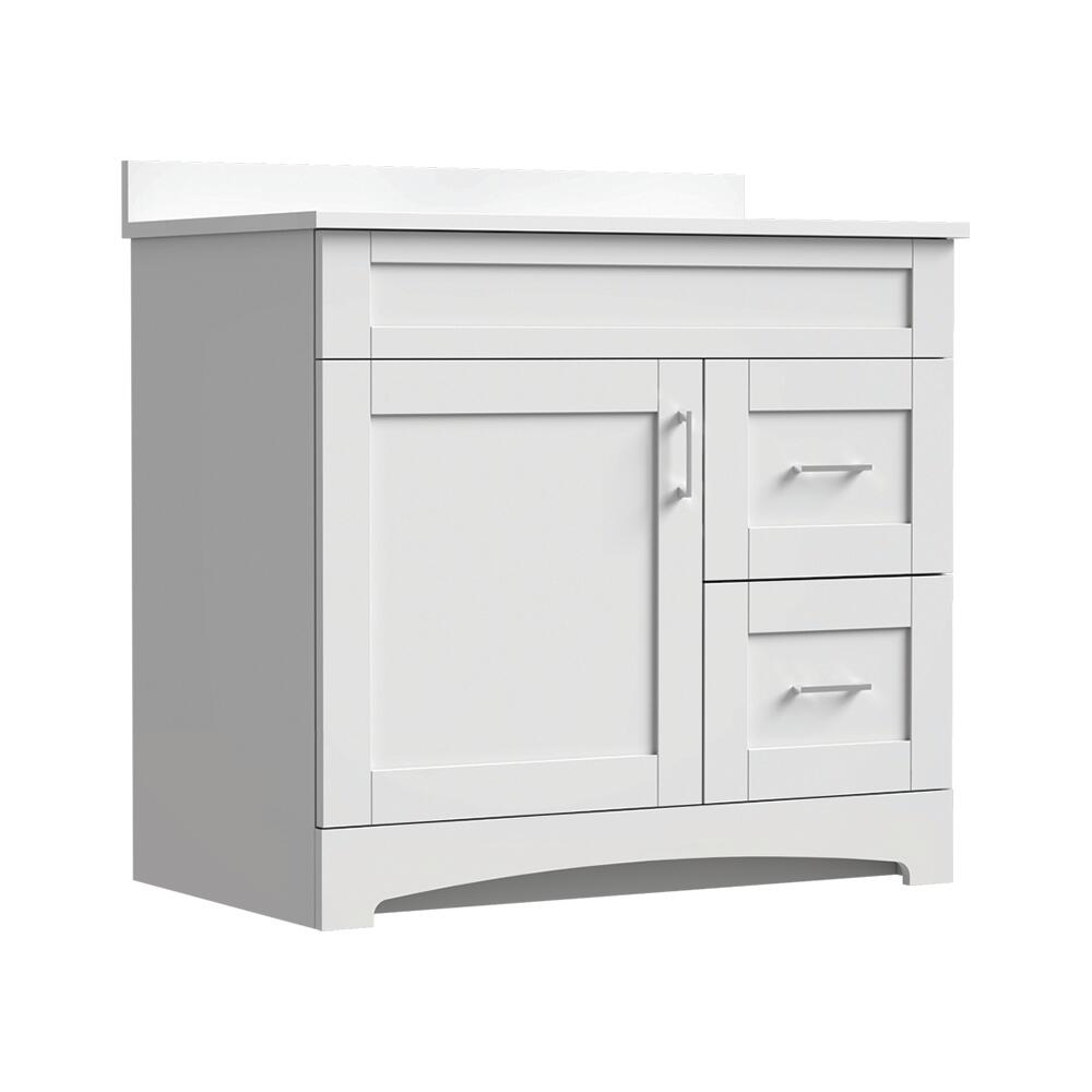 Magick Woods Elements Brighton 36 W X 18 D Bathroom Vanity Cabinet At Menards