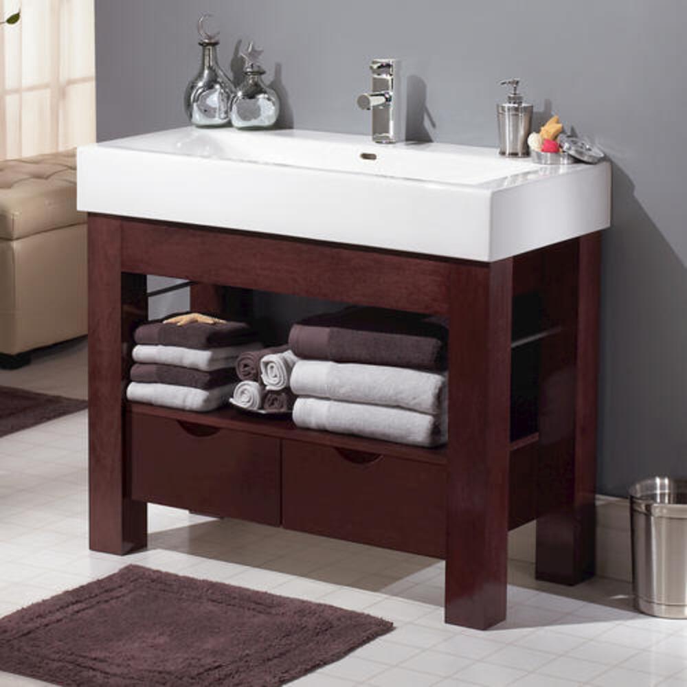Magick Woods Sonata 38 1 4 W X 18 D Mahogany Bathroom Vanity Cabinet At Menards