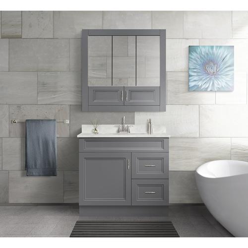 Fabulous Magick Woods Elements Stratton 36W X 21D Gray Bathroom Download Free Architecture Designs Scobabritishbridgeorg