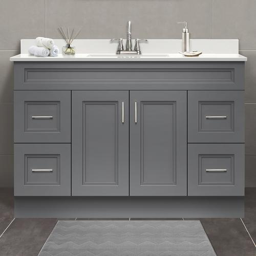 Magick woods elements stratton 48 w x 21 d gray bathroom - Menards bathroom vanities 48 inches ...