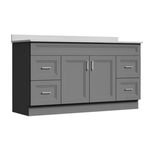 Magick Woods Elements Stratton 60 W X 21 D Gray Bathroom