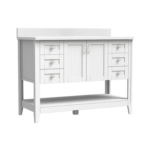 Magick woods elements newhaven 48 w x 21 d matte white - Menards bathroom vanities 48 inches ...