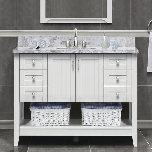 Awe Inspiring Magick Woods Elements Newhaven 48W X 21D Matte White Complete Home Design Collection Epsylindsey Bellcom