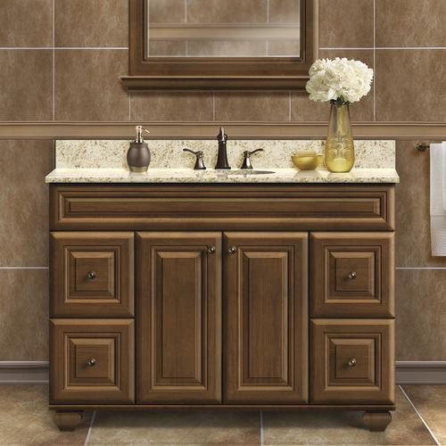 Magick woods elements manchester 48 w x 21 d mocha - Menards bathroom vanities 48 inches ...