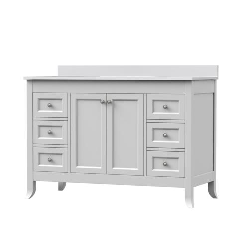 Magick woods elements ashwell 48 w x 21 d bathroom vanity - Menards bathroom vanities 48 inches ...