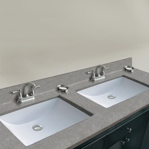 X 19 D Pewter Cultured Marble Vanity