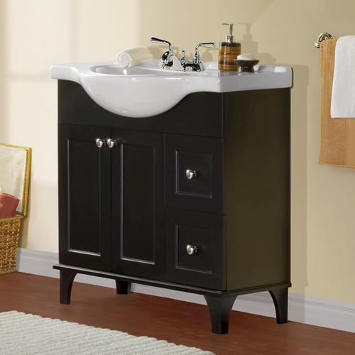 """30 Bathroom Vanity Menards magick woods 33-11/16"""" w x 19"""" d concord collection vanity"""