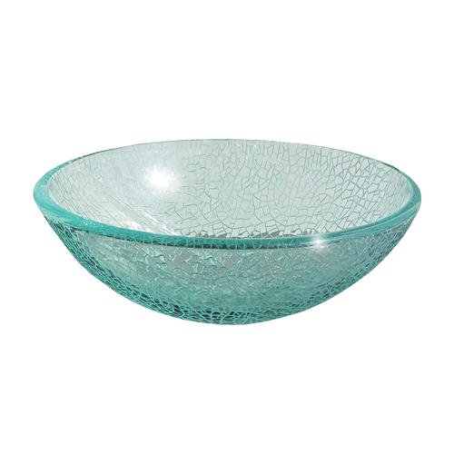 . Magick Woods 16 1 2  Cracked Glass Vessel Sink at Menards