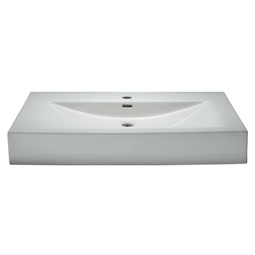 Magick Woods 40 W X 19 D Sonata Collection Porcelain Vanity Top With Integrated Bowl At Menards