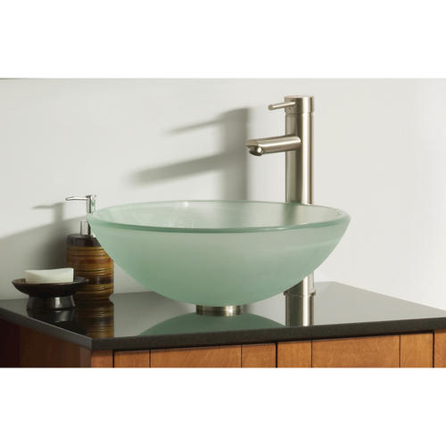 "Bathroom Sinks At Menards magick woods 16-1/2"" frosted glass vessel sink at menards®"