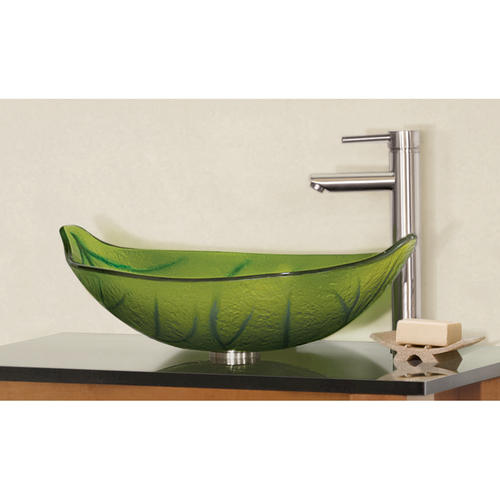 "Bathroom Sinks At Menards magick woods 22-1/4"" green leaf vessel sink at menards®"