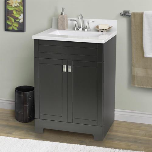 "Bathroom Sinks Essex magick woods 25"" w x 19"" d essex vanity ensemble at menards®"