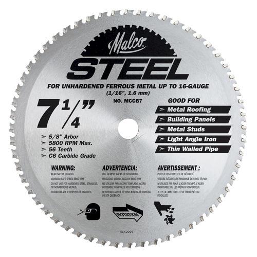 Malco 7 14 steel circular saw blade at menards greentooth Gallery