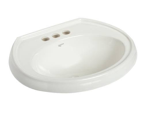 Mansfield Waverly 21 W X 17 D White Oval Drop In Bathroom Sink 4 Center At Menards