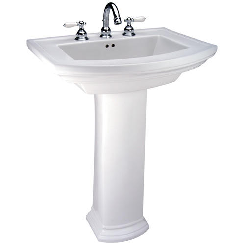 Mansfield Barrett Pedestal Bathroom Sink   Single Hole At Menards®