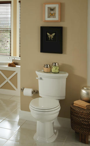 Incroyable Mansfield® Waverly White Elongated Front SmartHeight ADA 2 Piece Complete  Toilet At Menards®