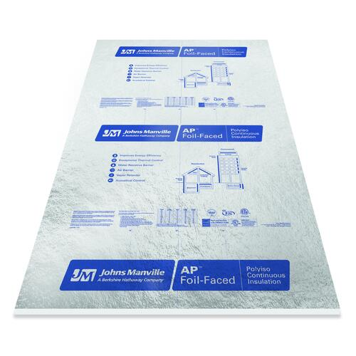 Johns Manville Foil Faced Polyiso Foam Board Insulation 4 X 8 At Menards