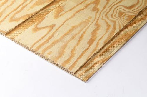 5/8 x 4 x 8 Pine Plywood Siding 12