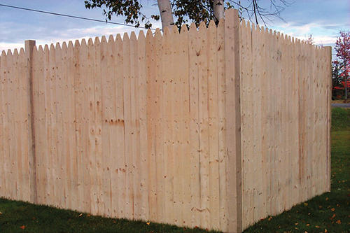 - 6' X 8' Stockade Natural Wood Fence Panel At Menards®