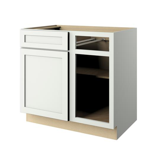 Cardell Cornerstone Collection Lakeridge 39 Blind Kitchen Corner Base Cabinet At Menards