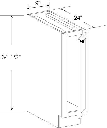 Cardell Concepts 9 Kitchen Base Cabinet At Menards