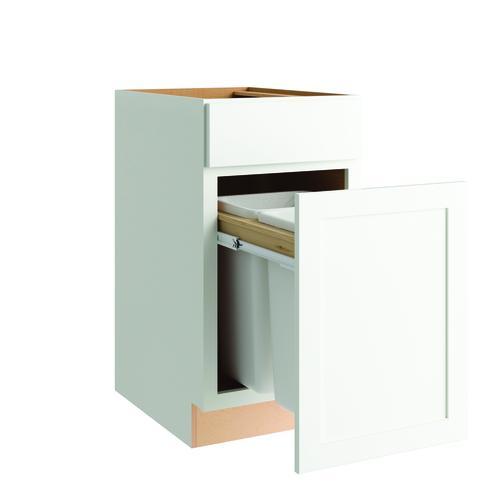 "White Kitchen Cabinets At Menards: Cardell® Concepts 18"" Kitchen Base Wastebasket Cabinet At"