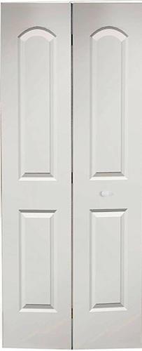 Mastercraft Primed Smooth Arch 2 Panel Bi Fold Closet Door At Menards