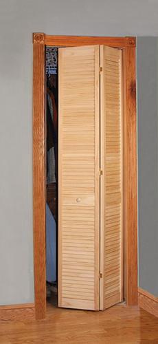 Designer S Image Pine Unfinished Full Louvered 2 Leaf Bi Fold Closet Door At Menards