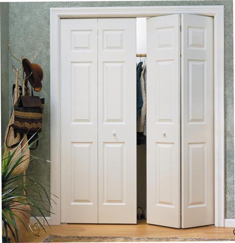 Masonite Custom Primed 6 Panel Woodgrain Colonist Bi Fold Door At Menards
