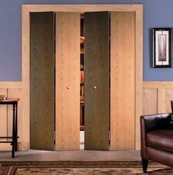 Mastercraft 174 Unfinished Flush Veneer Oak Bi Fold Door At