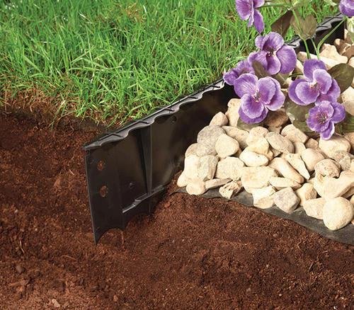 Superieur Master Mark Plastics® 5 1/4 X 4u0027 Premier Black Poundable Lawn Edging At  Menards®
