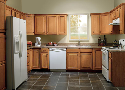 menards kitchen cabinets.  Value Choice 30 Huron Oak Standard Height Wall Cabinet at Menards