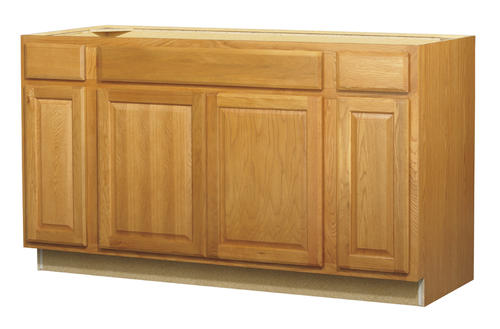 value choice 60   huron oak standard 4 door sink base cabinet at menards   value choice 60   huron oak standard 4 door sink base cabinet at      rh   menards com