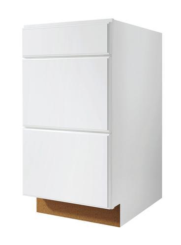 Value choice 24 ontario white 3 drawer base cabinet at menards malvernweather Gallery