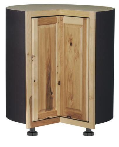 Value Choice 36 Thunder Bay Hickory Easy Reach Kitchen Corner Base Cabinet