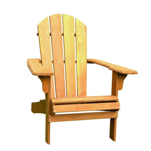 Backyard Creations Stained Adirondack Patio Chair At Menards