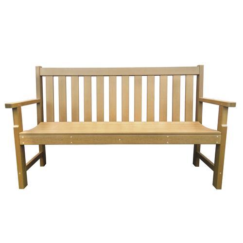 Backyard Creations Faux Wood Patio Bench At Menards