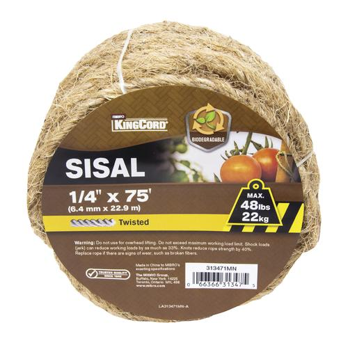 KingCord® Twisted Sisal Rope at Menards®
