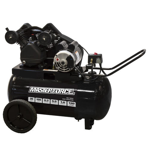 Masterforce® Belt Drive 20-Gallon Portable Electric Horizontal Air on