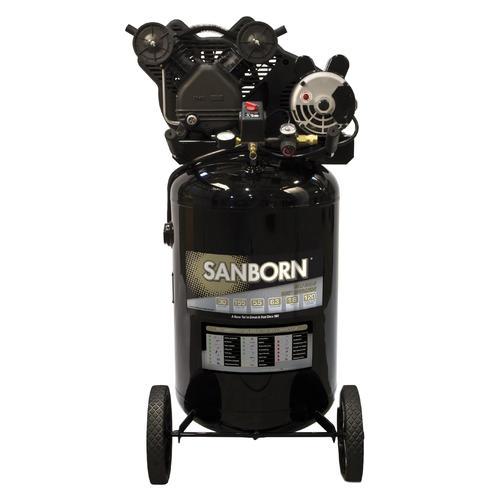 sanborn belt drive 30gallon portable electric vertical air compressor at menards