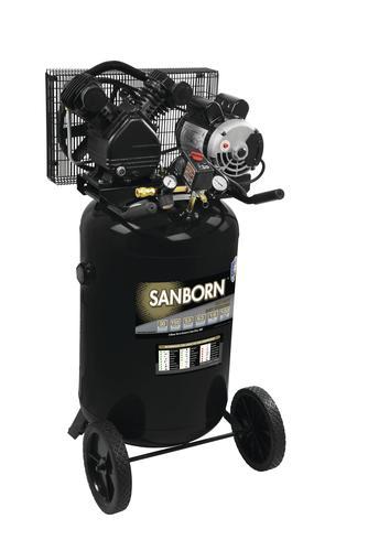 Sanborn® Belt Drive 30-Gallon Portable Electric Vertical