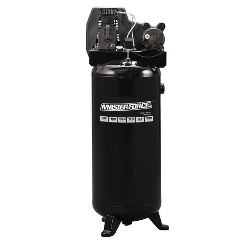 masterforce� belt drive 60 gallon 155 psi stationary electric