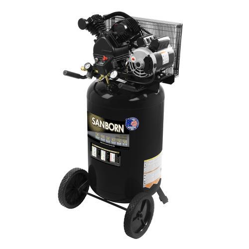 Sanborn Belt Drive 30 Gallon Portable Electric Vertical Air Compressor At Menards