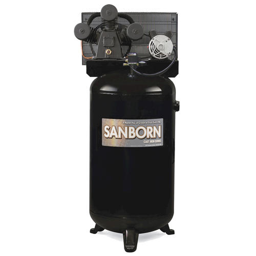 sanborn® hi flo 80 gallon stationary electric vertical air sanborn® hi flo 80 gallon stationary electric vertical air compressor at menards®