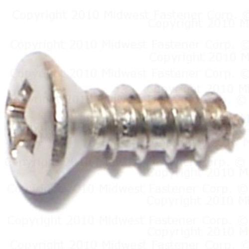 FT #10 x 7//8 Sheet Metal Screw Phillips Oval Head Type A Stainless Steel 18-8 Pk 50